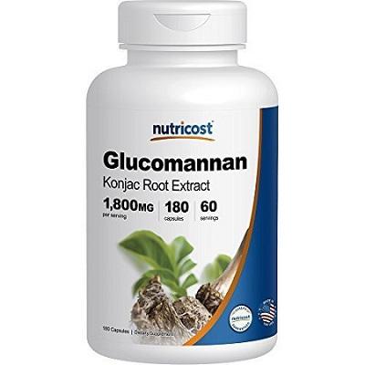 a box of Glucomannan capsules
