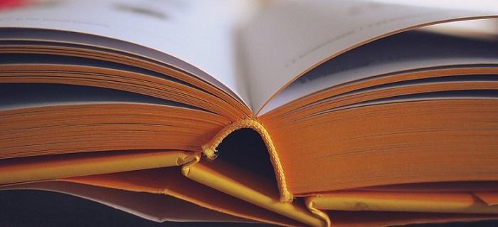 an open book close-up